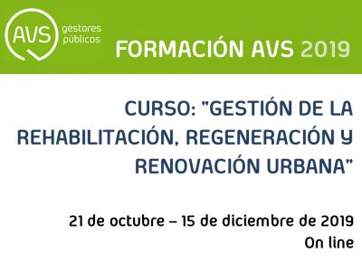 Curso sobre la rehabilitación, regeneración y renovación urbana de la mano de AVS